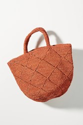 Anthropologie Kapity Woven Tote Bag Pink
