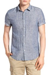 Scotch And Soda Men's Extra Slim Fit Linen Shirt