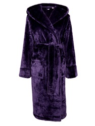 John Lewis Shimmer Fleece Robe Purple