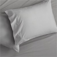 Cb2 Set Of 2 Standard Organic Cement Percale Pillowcases