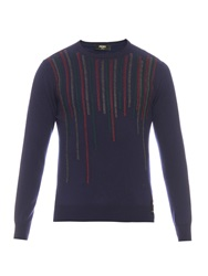 Fendi Embroidered Crew Neck Sweater