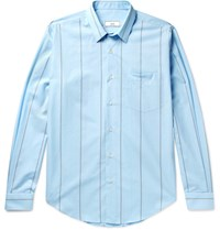 Ami Alexandre Mattiussi Striped Cotton Shirt Blue