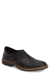 Naot Footwear 'Director' Venetian Slip On Men Black Velvet Nubuck Raven