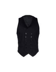 Gaetano Navarra Vests Dark Blue