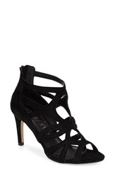 Women's Sole Society 'Alessa' Cage Sandal Black Suede