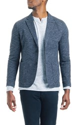 Good Man Brand Slim Fit Vintage Twill Knit Blazer Sky Captain Blue Heather