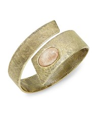 House Of Harlow Tanta Stone Accented Textured Cuff Pink