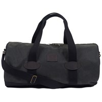 Barbour Defender Waxed Cotton Holdall Black Sage