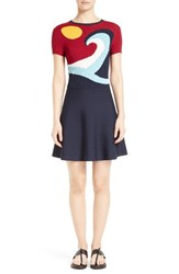 Red Valentino Women's Waves And Sun Sweater Dress