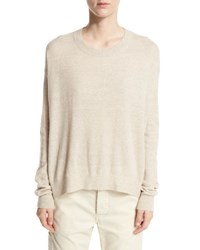 Vince Drop Shoulder Pullover Sweater Light Brown