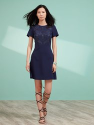 Shanghai Tang A Line Dress With Embroidery Dark Blue