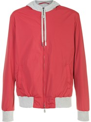 Eleventy Hooded Jacket Red
