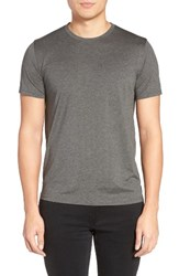 Theory Men's Silk And Cotton Crewneck T Shirt Charcoal