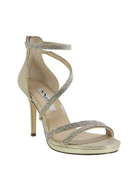 Nina Reed Strappy Sandals Gold