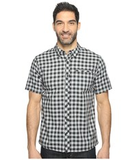 Smartwool Summit County Gingham Light Gray Men's Short Sleeve Button Up