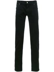 Dolce And Gabbana Embroidered Bee Crown Jeans Black