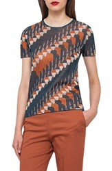 Akris Women's Jockey Silk Blend Jacquard Tee