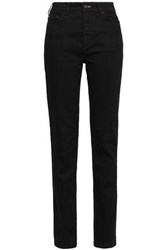 Mcq By Alexander Mcqueen Woman High Rise Slim Leg Jeans Black