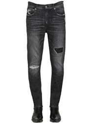 Calvin Klein Jeans Slim Fit Distressed Cotton Denim Grey
