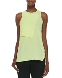 Alexander Wang Layered Georgette Sleeveless Tank Citrine
