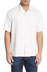 Tommy Bahama Men's 'Java Dobby' Original Fit Silk Camp Shirt Coconut