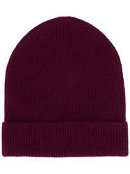 Isabel Marant Chilton Ribbed Beanie Red