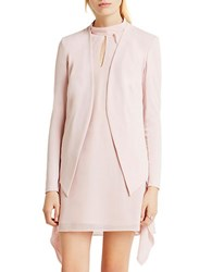 Bcbgeneration Welt Pocket Crepe Tuxedo Blazer Rose Smoke