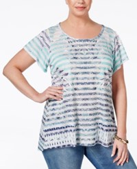 Styleandco. Style And Co. Plus Size Printed Short Sleeve Tunic Only At Macy's Before Evening
