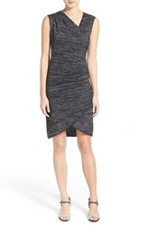 Women's Rd Style Sleeveless Asymmetrical Faux Wrap Sheath Dress