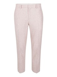 Topman Pink Relaxed Fit Cropped Smart Trousers