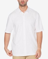 Cubavera Embroidered Panel Shirt Bright White