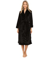 N By Natori Cashmere Fleece Robe Black Women's Robe
