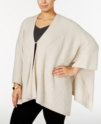 Alfani Plus Size Textured Knit Poncho Only At Macy's Stone Block