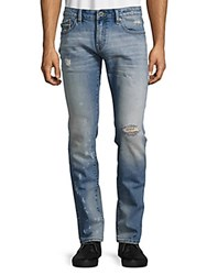 Cult Of Individuality Rocker Distressed Slim Fit Jeans Blue