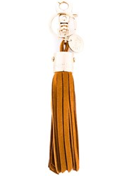 See By Chloe Tassel Keyring Brown
