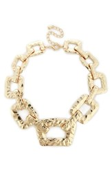 Sole Society Textured Oversize Chain Necklace Gold
