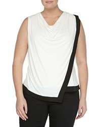 Mynt 1792 Asymmetric Cowl Neck Blouse White