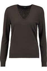 Joseph Cashmere Sweater Dark Brown