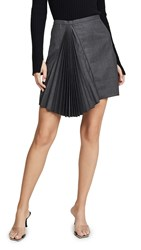 N 21 No. Pleated Skirt Grigio Scuro Melange