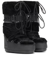 Moon Boot Exclusive To Mytheresa Classic Faux Fur Trimmed Ankle Boots Black