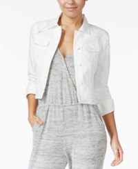 American Rag Ripped White Denim Jacket Only At Macy's One White
