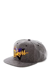 Mitchell And Ness Lakers Crease Triangle Snapback Blue