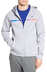 Lacoste Men's Lifestyle Double Face Fleece Hoodie Silver Chine