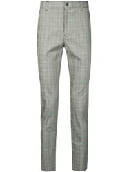 Loveless Check Tailored Trousers Grey