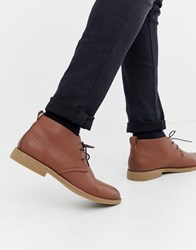 New Look Faux Leather Desert Boots In Tan