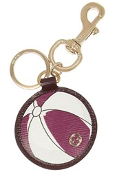 Gucci Leather Beach Ball Key Fob