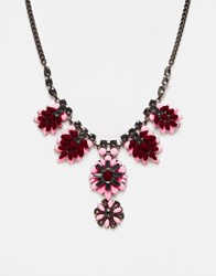 Oasis Oversized Flower Statement Necklace Gold