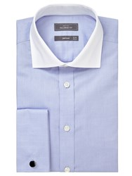 John Lewis Luxury Royal Oxford Winchester Long Sleeve Shirt Blue