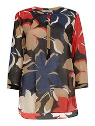 Marella Incerto Blouse With Bold Floral Print Red