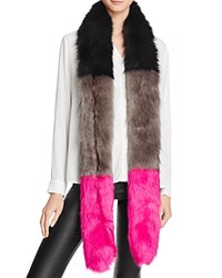 Cara Accessories Multi Color Skinny Stole Scarf 100 Bloomingdale's Exclusive Black Gray Hot Pink